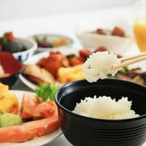 朝食ヴッフェ 盛付け例(和食)