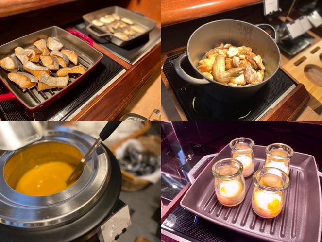 スープやエッグベネディクトの他、焼き魚、新子焼きなど和食メニューもございます。