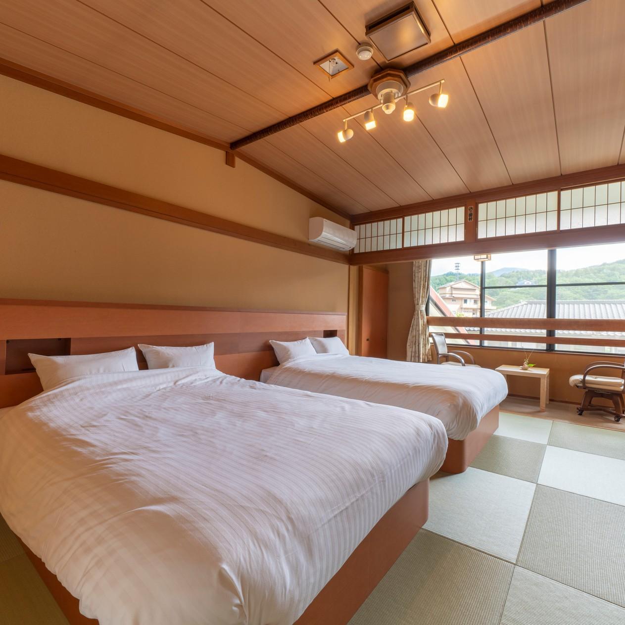 【ベッド付き和室10畳+広縁】温水洗浄トイレ付