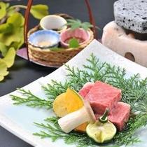 【阿智黒毛和牛の信州牛ステーキ】