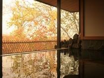秋の貸切温泉