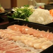 ◇信州産鶏三種の水炊き鍋・・・地鶏一例