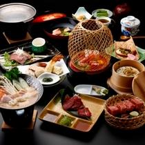 ■今日はぷち贅沢!信州特産の馬刺しと信州牛ステーキ付き和会席料理一例