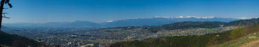 浅間温泉・展望台からの風景