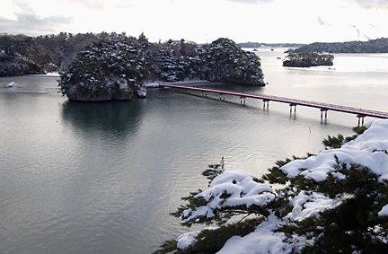松島 冬景色