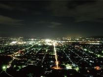 八幡山から見た近江八幡の夜景