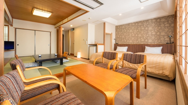 北水館(和洋室)【禁煙】7.5畳+シモンズ社製ベッド2台