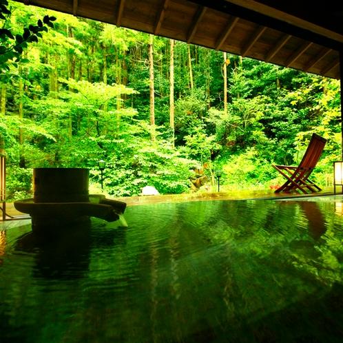 居心地よい貸切温泉風呂(山水)