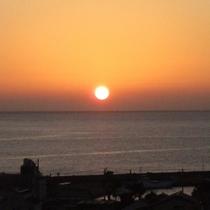 詩季亭より夕陽