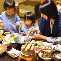 家族で食事