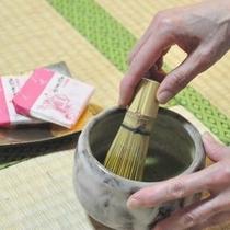 ■抹茶のサービス■ いらっしゃいませ、ようこそ備前屋甲子へ。