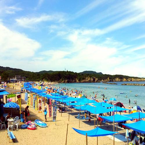 【夏の海水浴千鳥ヶ浜】