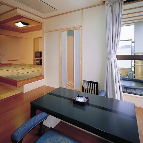 NW露【露天付和洋特別室】和室とツインで、最大7名様までご宿泊いただけます。