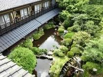 ロビーからみた日本庭園