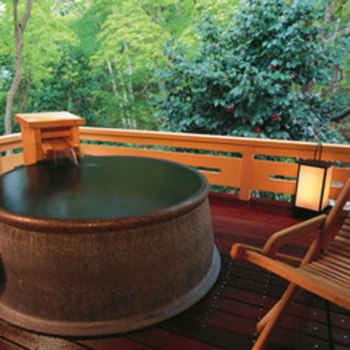 貸切露天風呂「ちゃ釜の湯」