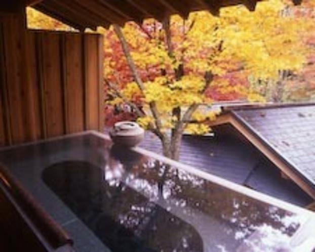 朝の露天風呂「若葉」