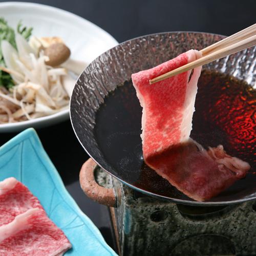 料理の一例:飛騨牛のすきしゃぶ