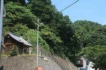 湯神社と鈍川の自然