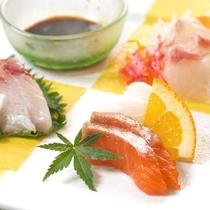 【お料理】おつくり しまなみの旬の魚介盛り