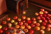 冬季限定「魔法のりんご風呂」