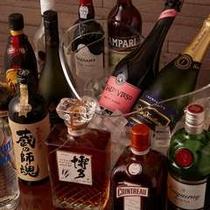 種類豊富なラウンジのアルコールタイム