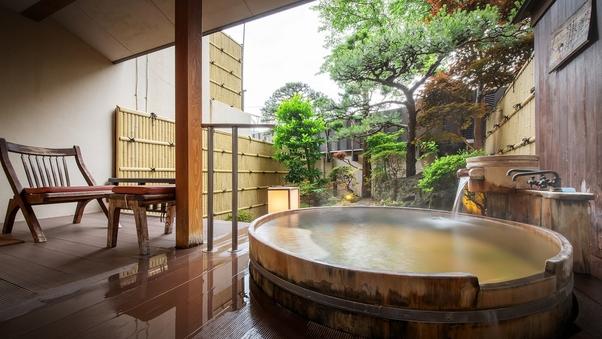【源泉かけ流し特別室】デラックス庭園露天風呂付客室