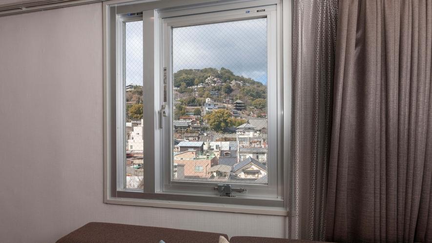 千光寺側の客室からの眺望の一例
