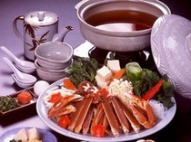 カニすき鍋(二名様分献立例)
