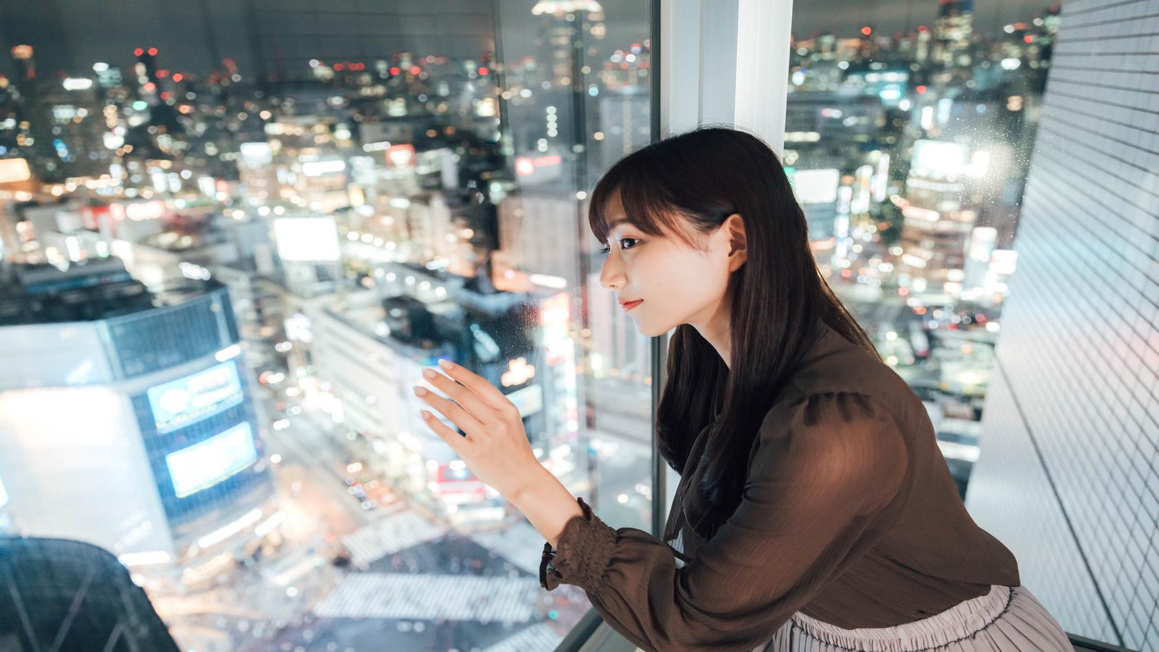 コーナーツインルームより「渋谷スクランブル交差点」を臨む