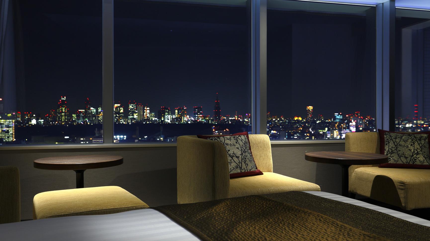 エクセルコーナーツインから新宿側の夜景を眺める