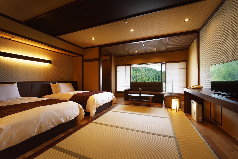 シモンズベット【和モダン】客室 禁煙(45平米)の一例