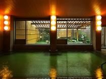 エメラルドグリーンの超濃厚☆硫黄泉!内湯大浴場(男女同タイプ)