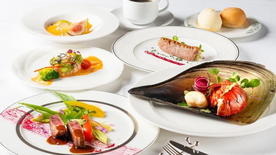 地元愛知の尾張牛フィレ肉やオマール海老など豪華食材を楽しめるフレンチフルコース♪
