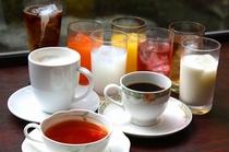 フリードリンク ご朝食時、ご宿泊者の方は無料