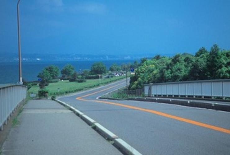琵琶湖岸の湖周道路