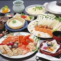 【冬季限定!】不死王閣特製「伏尾鍋」山海の幸をふんだんに盛り込んだ当館特製の鍋料理です。