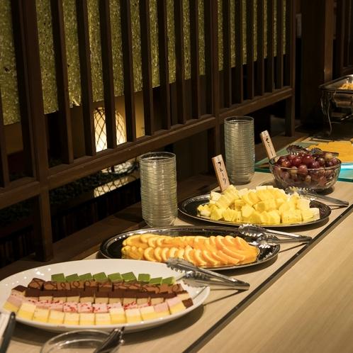 【朝食】デーザートも豊富な種類をご用意いたしております。