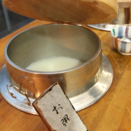 【朝食バイキング】富山産コシヒカリはおかゆにするとさらにお米の美味しさが分かります。