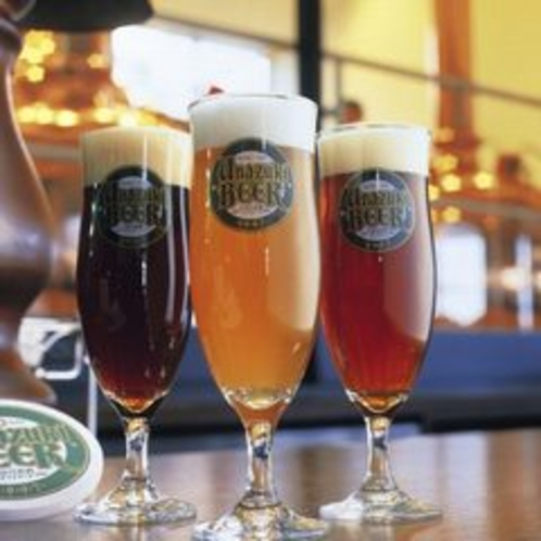 【地ビール】宇奈月温泉から車で15分程行ったところの宇奈月ビール館より仕入れています。