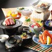 【延対寺荘ハイグレードプラン】四季華やぎ会席:富山湾で水揚げされた厳選魚介をご堪能頂けます。