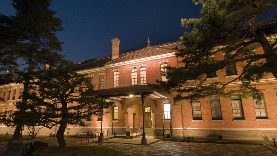 石川四高記念館・夜 (写真提供:金沢市)
