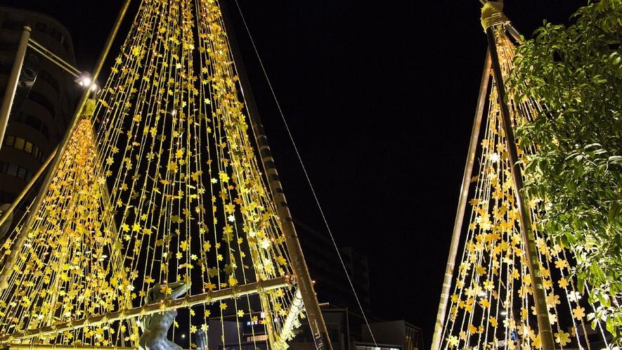武蔵のライトアップ(写真提供:金沢市)