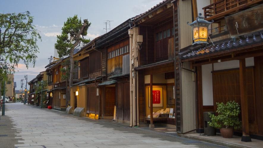 にし茶屋街(写真提供:金沢市)