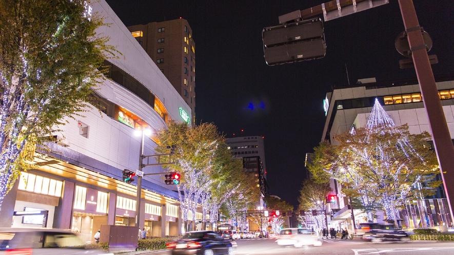 香林坊(冬のライトアップ)(写真提供:金沢市)