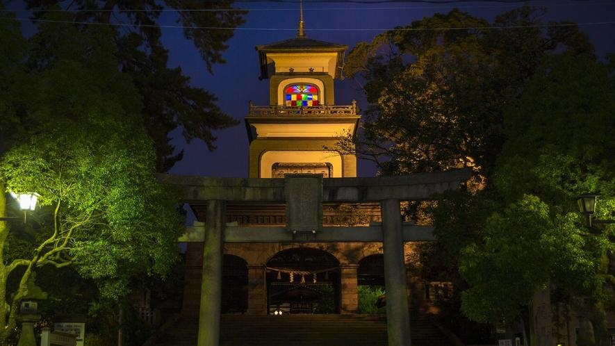 尾山神社神門・夜(写真提供:金沢市)