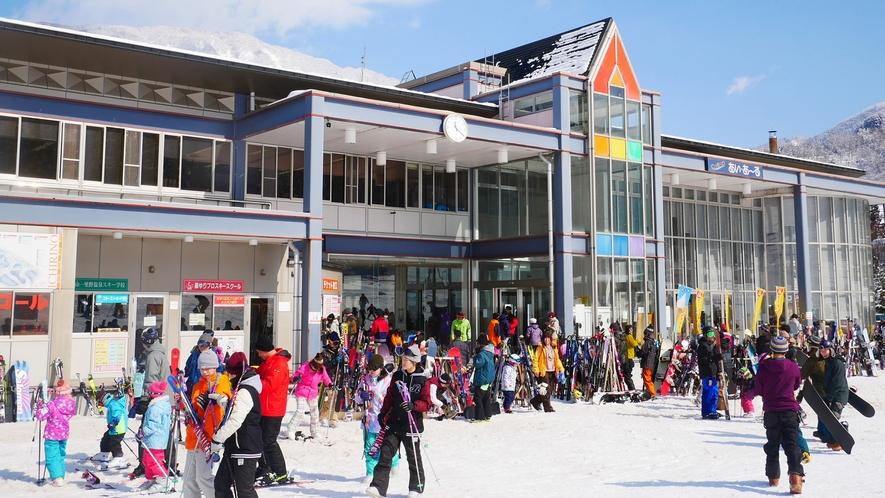 【スキー場】徒歩1分白山一里野温泉スキー場