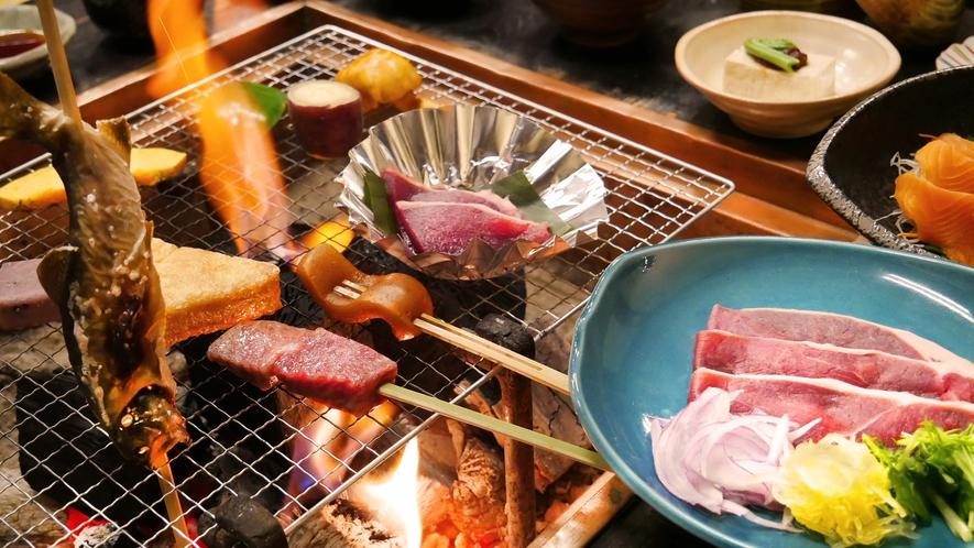 【夕食】白山囲炉裏炭火膳(1人前イメージ)