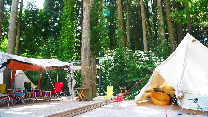 【グランピング】おしゃれなテントに備品すべて使い放題