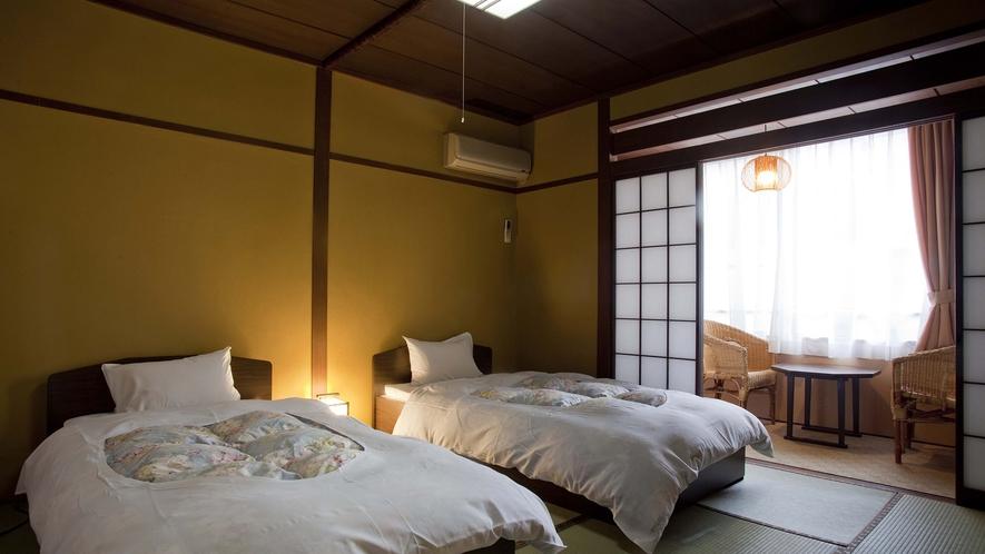 【和洋室】和室にベッド2台の和洋室も完備(要問合せ)