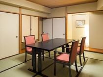 ご夕食会場は個室もご用意できます。(要予約)
